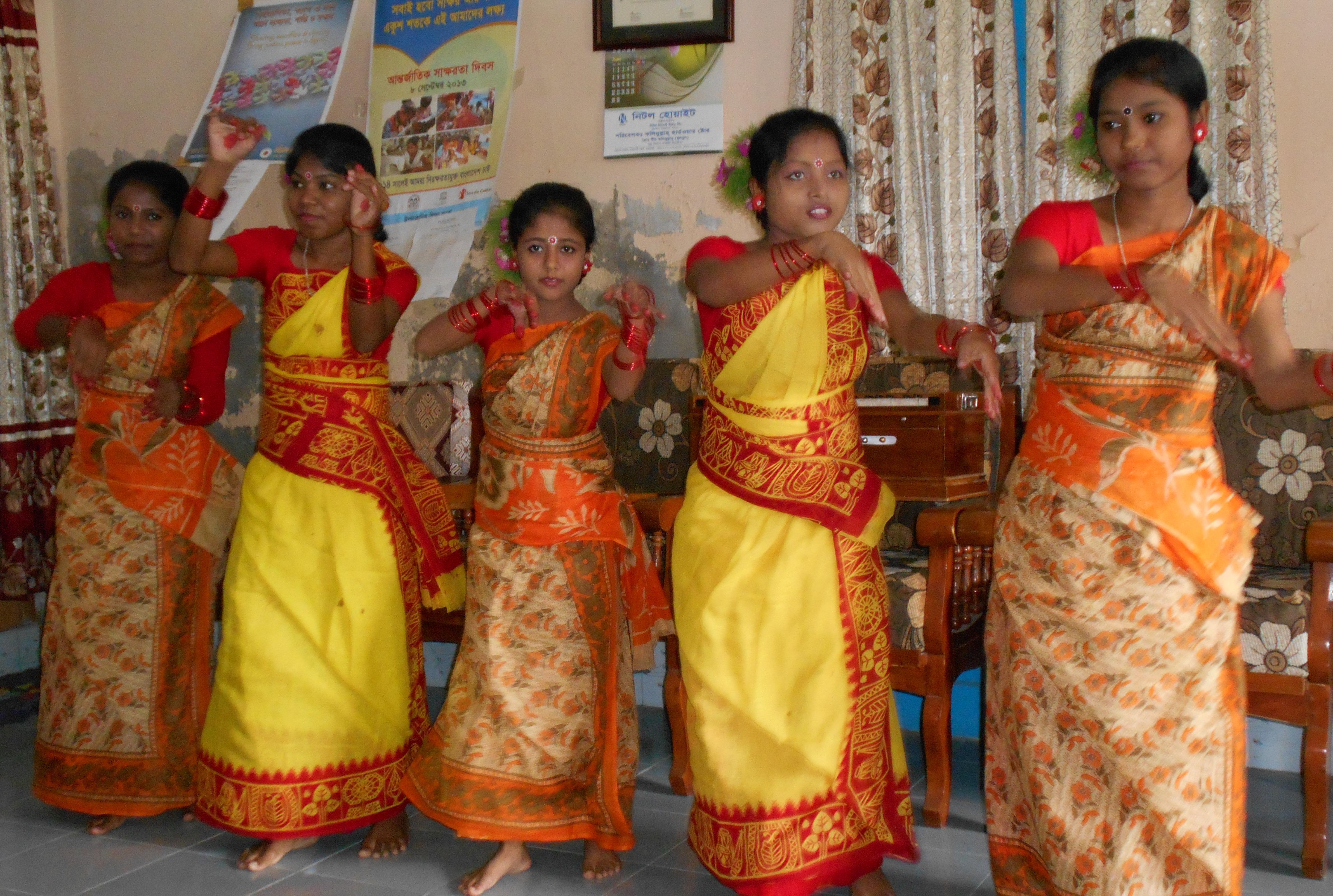 Santal dancers celebrating.
