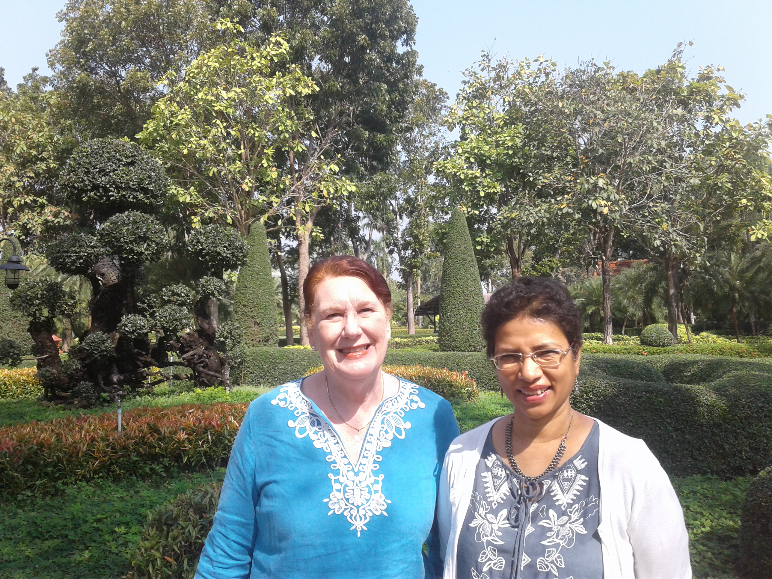 Dr. Havilah Dharamraj of SAIACS with Marlene.