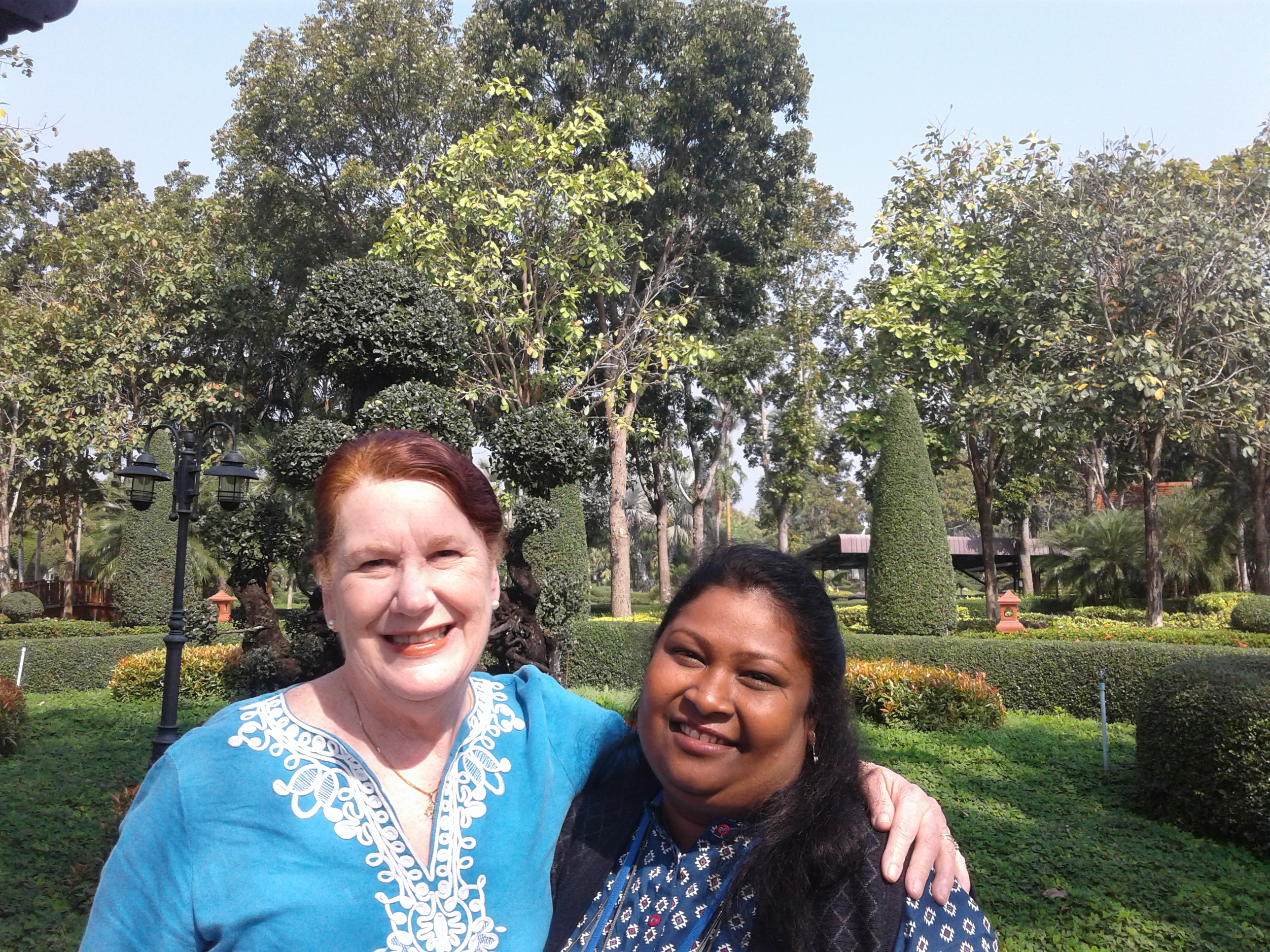 Suchitra Behera of the Church of Bangladesh with Marlene.