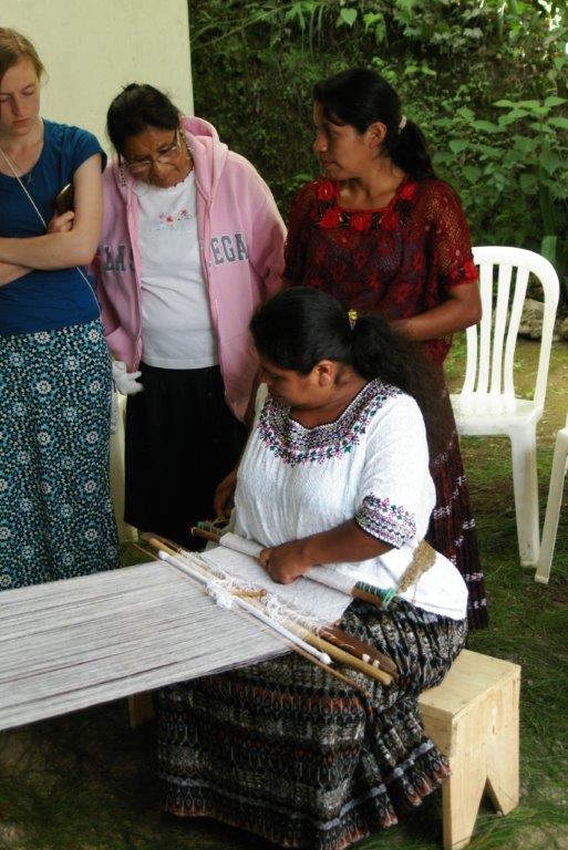 """A visit to a local women's weaving cooperative"""