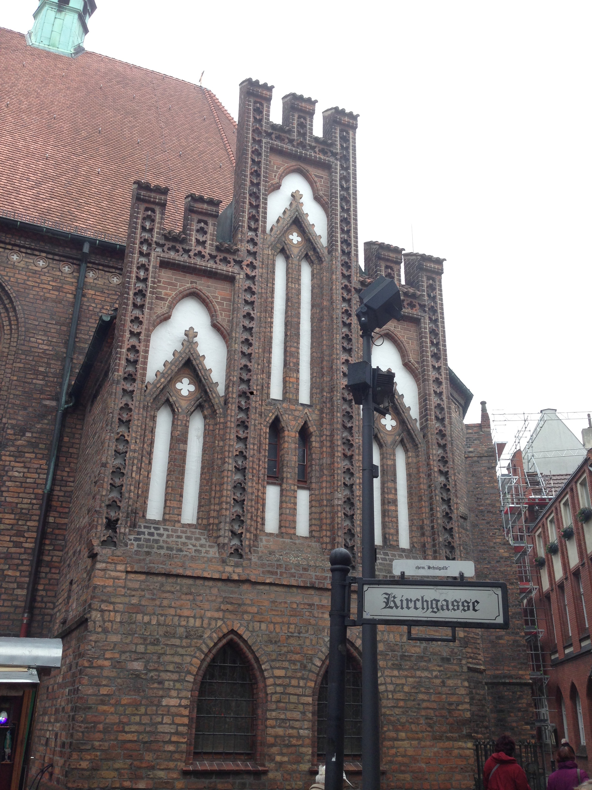 Facade of the church where the first Protestant worship service in Berlin was celebrated in 1599.