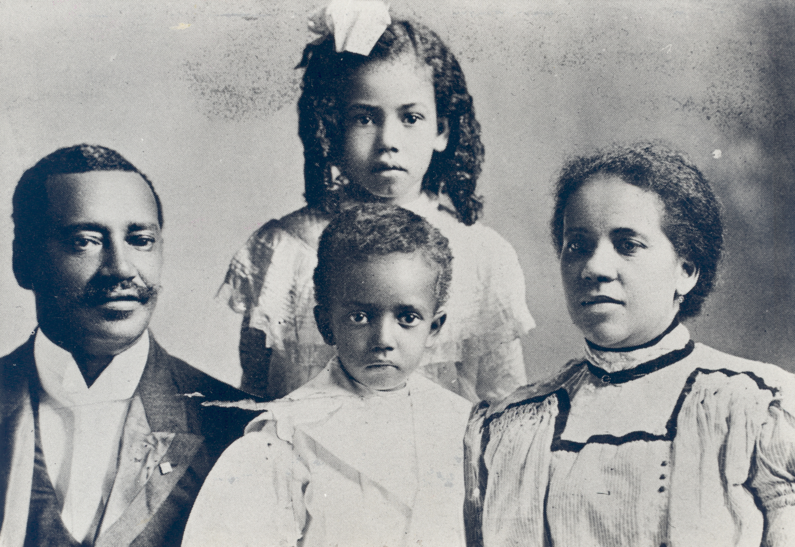The Rev. Dr. William H. Sheppard, his wife, Lucy, and their children, ca. 1900 Photo credit: Presbyterian Historical Society