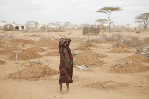 woman in east africa