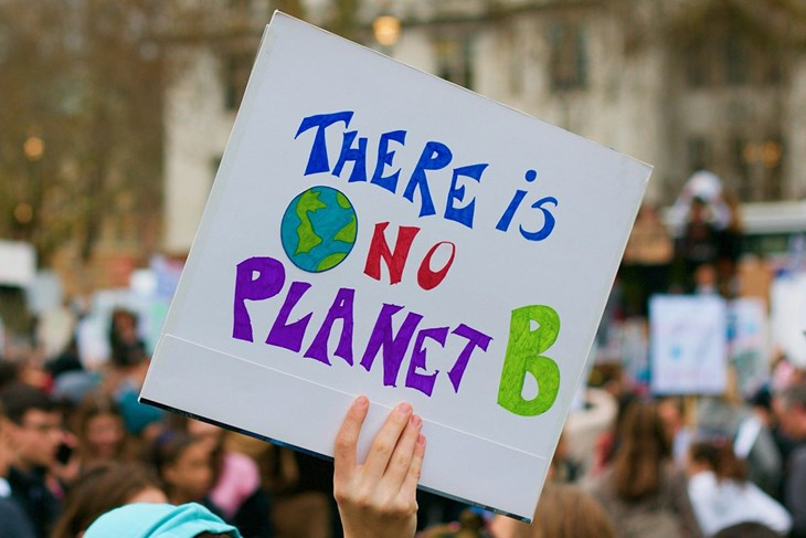 """sign with """"There is No Planet B"""""""