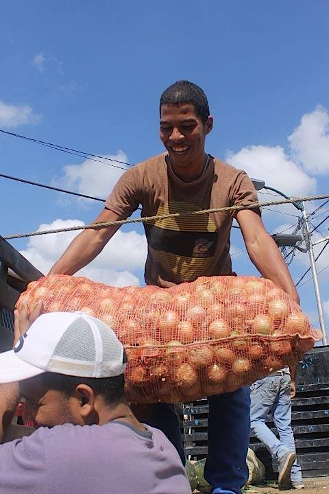 Man with onions in Venezuela