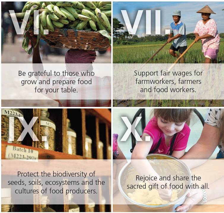 four of the 10 commandments of food
