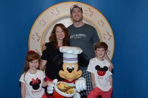 Joshua Bower and his family at Disney World.
