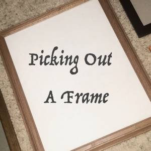 Assorted frames available for choosing