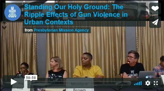 Ripple Effect of Gun Violence panelists