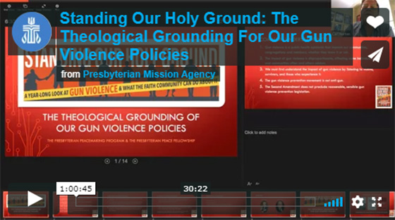 Theological grounding for gun violence policies intro slide