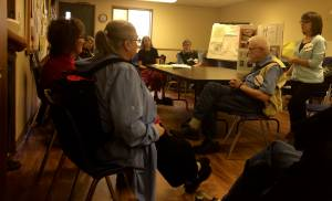 Earth Care Congregation members and interested parties gathered for conversation at Colonial Heights PC
