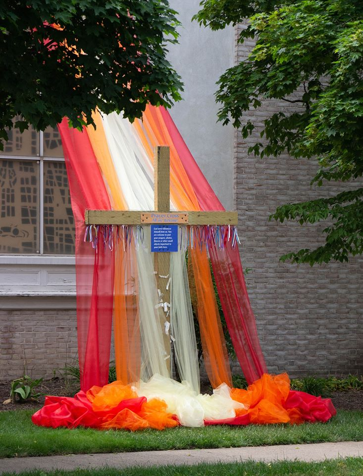 Pentecost Art installation at Hightstown PC