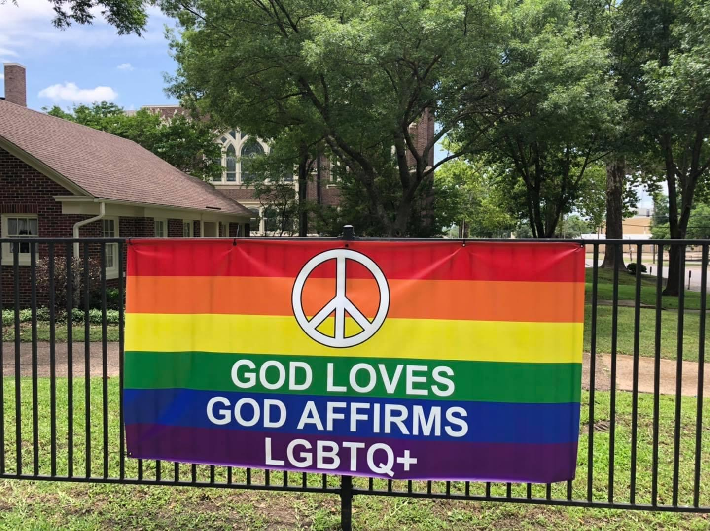 God Loves God Affirms Rainbow Sign