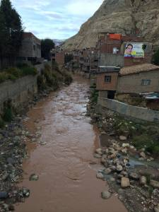 River in La Oroya, Peru-- community impacted by metal smelter