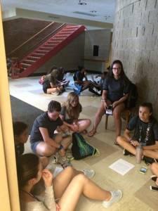 Triennium youth discuss EJ hallway overflow 2