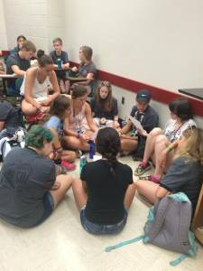 Triennium youth discuss EJ small group 2