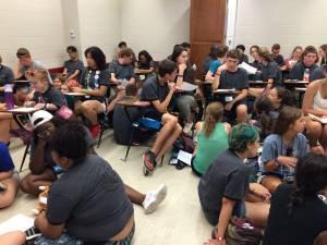 Triennium youth talk EJ issues full classroom