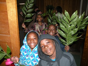 Eco-palms at Bardstown Road Presbyterian Church
