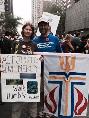 Presbyterians caring for God's creation, climate march, sept 2014