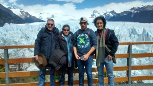 On vacation at the Perito Moreno glacier