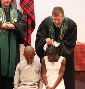 children with pastor