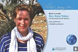 Rev. Kate Taber Prayer Card