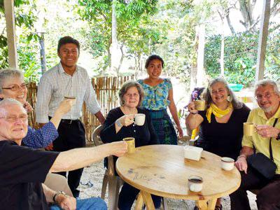 Drinking freshly roasted El Tata coffee