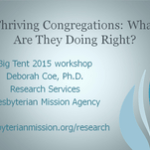 Thriving Congregations: What are they doing right?