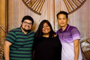 From left to right: Juan David Correa, Elizabeth Vasquez and Sunkyoo Park. —Tim Ruff