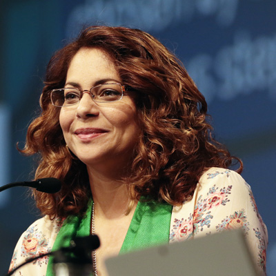 Co-moderator Vilmarie Cintron Olivieri
