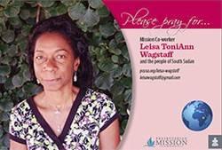 Prayer card - Leisa Toni Ann Wagstaff