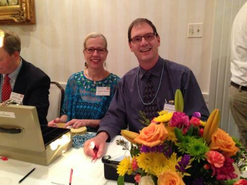 Debbie and Richard working the 1st Presbyterian Church Lake Forest Auction for Mission