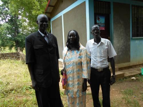 Matthew Doleak, Ariet, and a volunteer, John