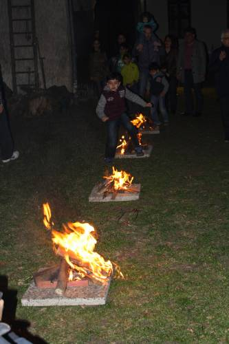 Jumping over Chaharshanbe Suri fires